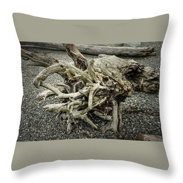 Throw Pillow featuring the photograph Wood Log In Nature No.34 by Juan Contreras