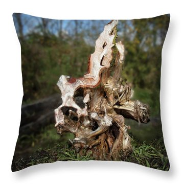 Throw Pillow featuring the photograph Wood Logs In Nature No. 1 by Juan Contreras