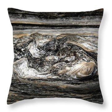 Wood Skine Throw Pillow