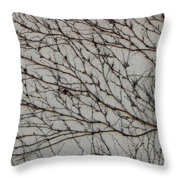 Throw Pillow featuring the photograph Woodbine by Attila Meszlenyi