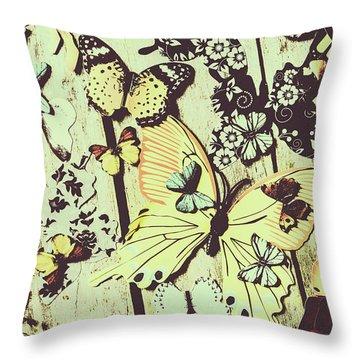 Wooden Spring Throw Pillow