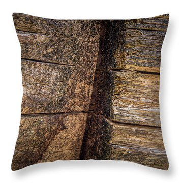 Wooden Wall Throw Pillow