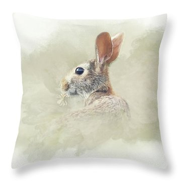 Woodland Hare Throw Pillow