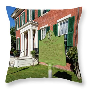 Woodrow Wilson Boyhood Home - Augusta Ga 1 Throw Pillow