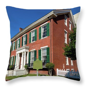 Woodrow Wilson Boyhood Home - Augusta Ga 2 Throw Pillow
