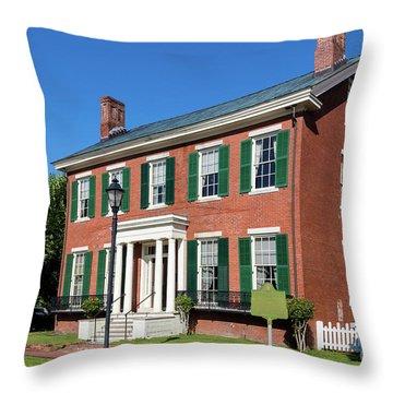 Woodrow Wilson Boyhood Home - Augusta Ga 3 Throw Pillow