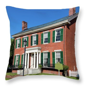 Woodrow Wilson Boyhood Home - Augusta Ga 3 Throw Pillow