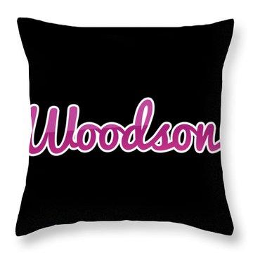 Woodson #woodson Throw Pillow