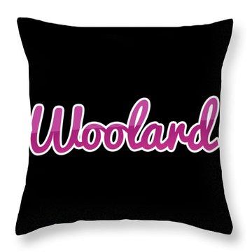 Woolard #woolard Throw Pillow
