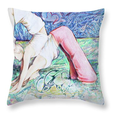 Work Togehter Throw Pillow