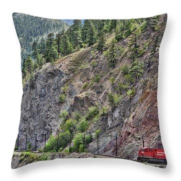Work Tracks Throw Pillow