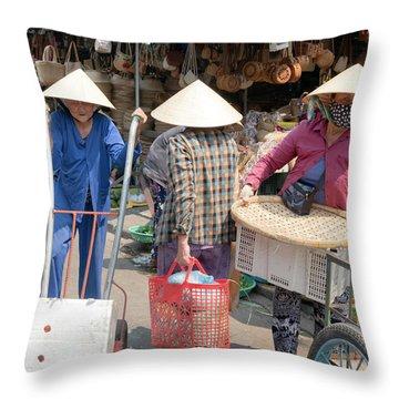 Working Women In Vietnam Throw Pillow