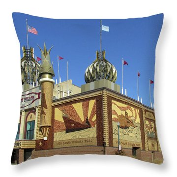 Throw Pillow featuring the photograph Worlds Only Corn Palace 2018-19 by Rich Stedman