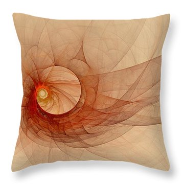 Wound Up Throw Pillow