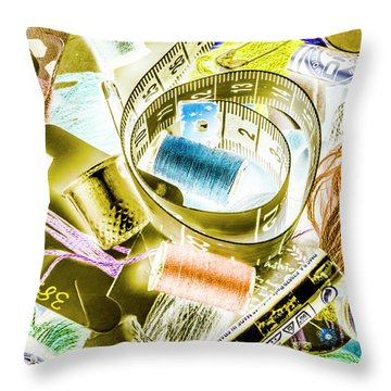 Wrapped With Threading Throw Pillow