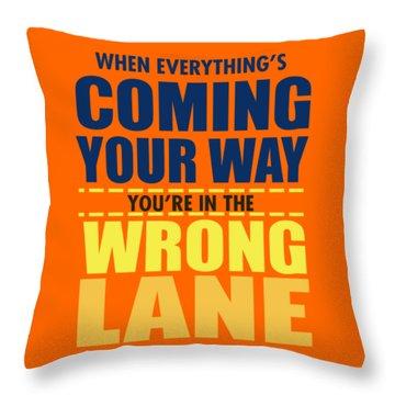 Wrong Lane Throw Pillow