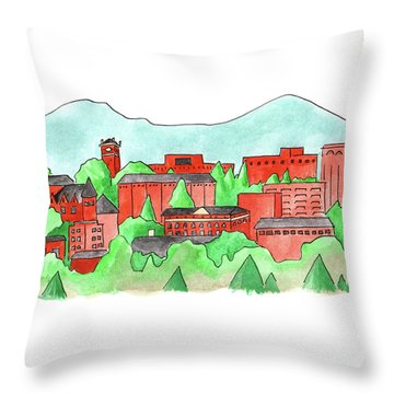 Wsu Pullman Throw Pillow