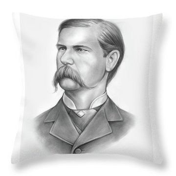 Wyatt Earp Throw Pillow