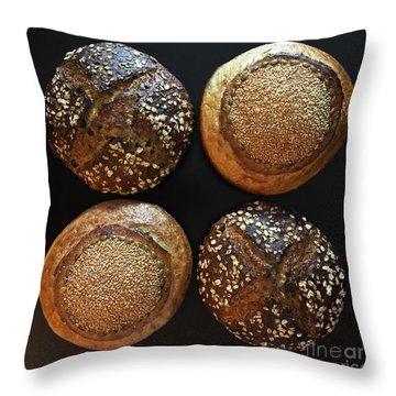 X And O Sourdough Throw Pillow