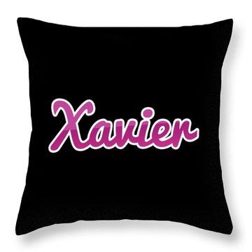 Xavier #xavier Throw Pillow