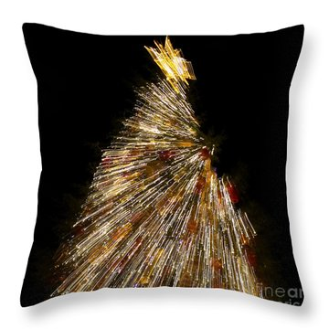 Xmas Tree Motion Art Throw Pillow