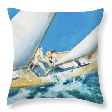 Yacht Race - Digital Remastered Edition Throw Pillow