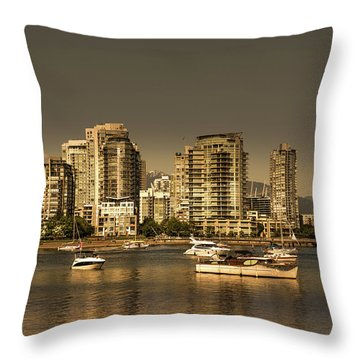 Yaletown Golden Hour Throw Pillow