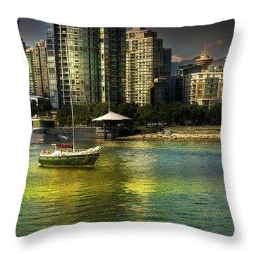 Yaletown Sunset Throw Pillow
