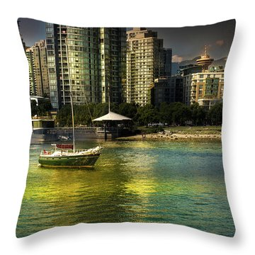 Yaletown Sunset Throw Pillow