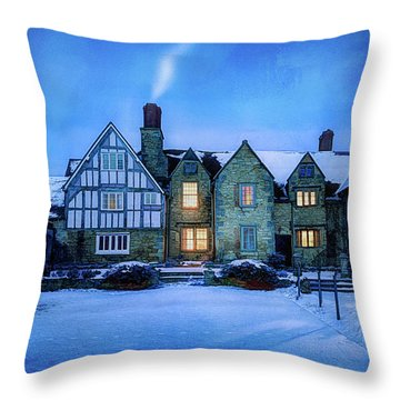 Ye Olde Manor Throw Pillow