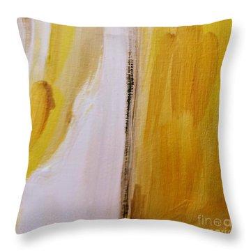 Yellow #5 Throw Pillow