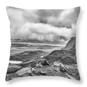 Yellow Autumn Panoramic Bw #i1 Throw Pillow