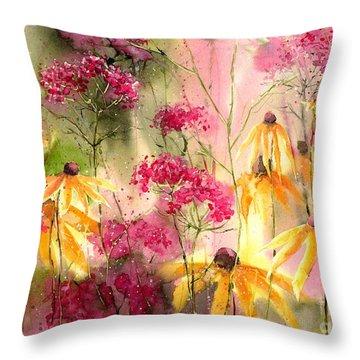 Yellow Ballerinas Throw Pillow