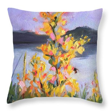 Yellow Blaze Throw Pillow