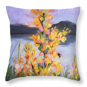 Yellow Blaze Throw Pillow