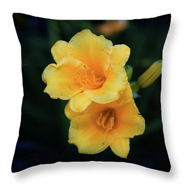 Throw Pillow featuring the photograph Yellow Duo by Milena Ilieva