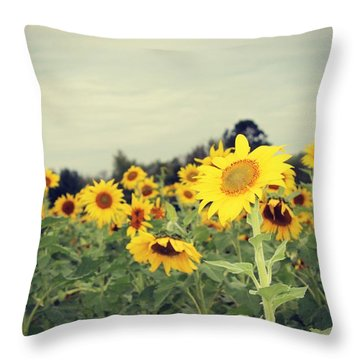 Throw Pillow featuring the photograph Yellow Fields by Candice Trimble