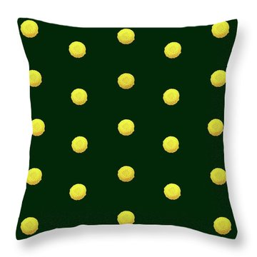 Throw Pillow featuring the photograph Yellow Flowers On Green Large Design by Johanna Hurmerinta