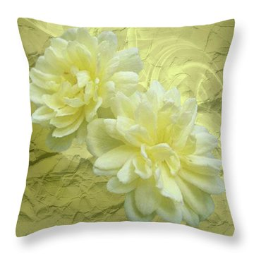 Yellow Foil Throw Pillow