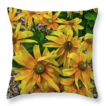 Yellow In Bloom Throw Pillow