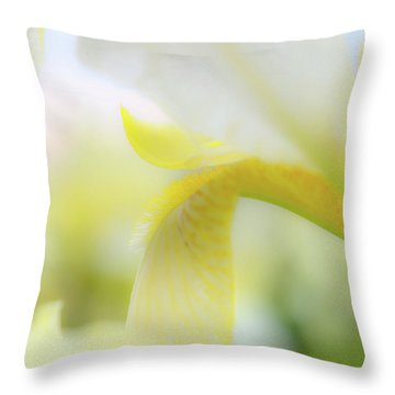 Yellow Iris 1 Throw Pillow