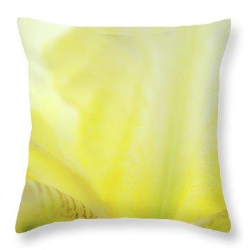 Yellow Iris 3 Throw Pillow