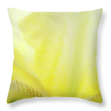 Yellow Iris 3 Throw Pillow