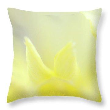 Yellow Iris 4 Throw Pillow