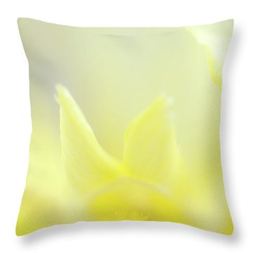 Yellow Iris 4 Throw Pillow
