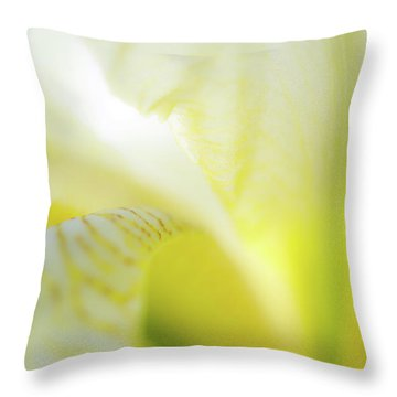 Yellow Iris 5 Throw Pillow