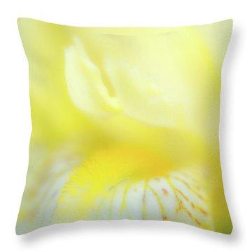 Yellow Iris 6 Throw Pillow