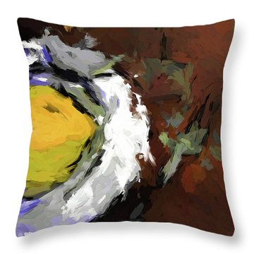 Yellow Lemon In The Bowl Throw Pillow
