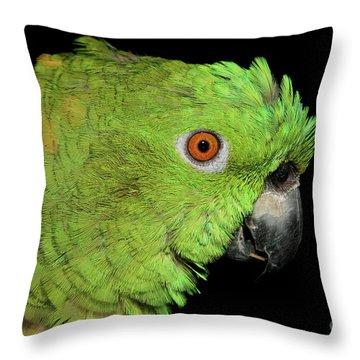 Yellow-naped Amazon Throw Pillow