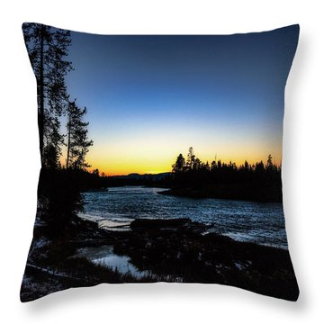 Throw Pillow featuring the photograph Yellowstone River by Pete Federico